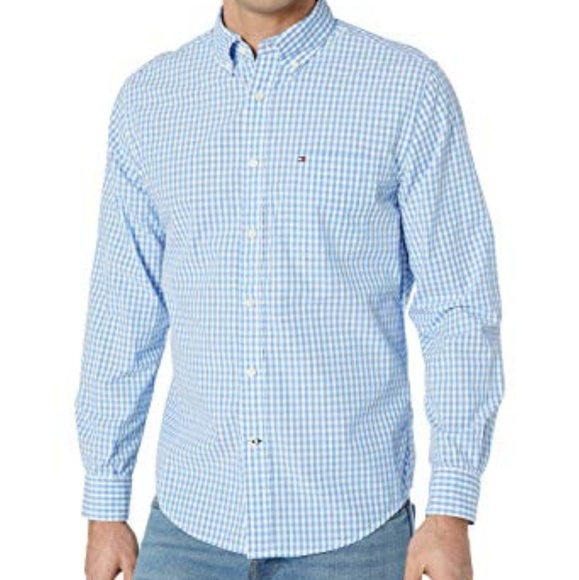 Tommy Hilfiger Other - NWT TOMMY HILFIGER BLUE CHECK BUTTON FRONT